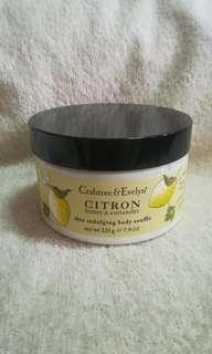 Authentic Crabtree & Evelyn Citron Honey & Coriander Skin Body Soufflé