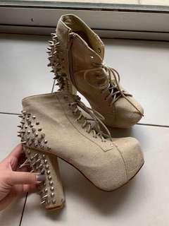 Spurr studded heels