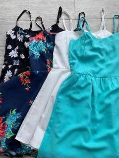 🚚 assorted plain/ floral rompers