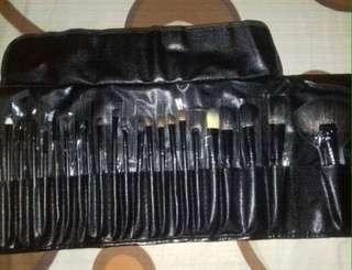 24pcs set brush make up hitam
