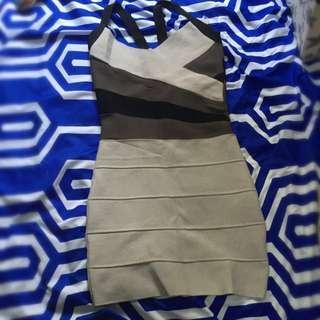 Bandage Dress Monotone