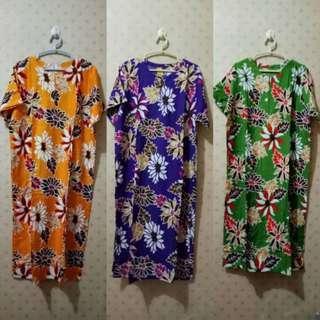 Baju Tidur Daster Batik Rayon Lengan Pendek