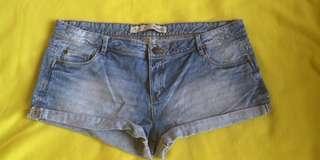 Low rise denim shorts plus size