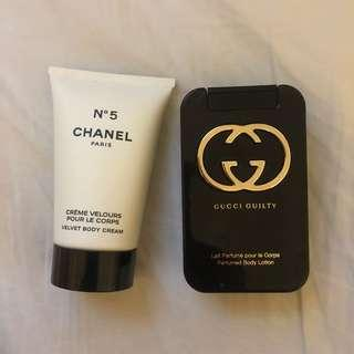 Chanel No 5 and Gucci Guilty Lotion