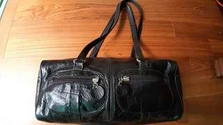 Aldo Black Leather Shoulder Bag