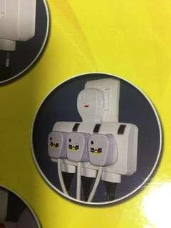 Adapter 6 way T with surge protection. New