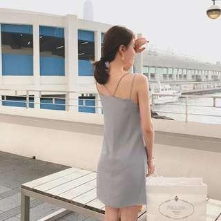 Grey Cny Party Dress
