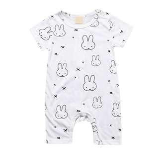 🚚 BN Baby Miffy Inspired Rabbit Bunny Onesie Romper 3-6m & 18-22mths avail!