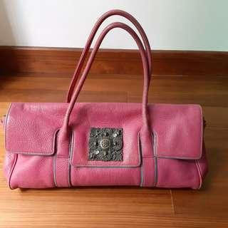 Mike Mike Brilliant Rose Leather Shoulder Tote