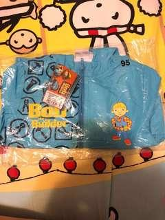 Bob the Builder 藍色拉鍊長袖風褸 size 95 (半價)