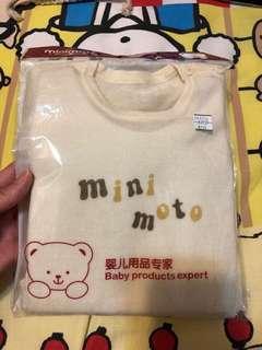 Minimoto 米白色100%羊毛長袖上衣 1-2yrs(半價)