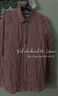 (Brands Outlet) Red checkered top