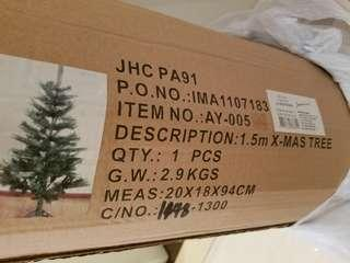 [免費自取] 1.5m聖誕樹連裝飾連盒 xmas tree