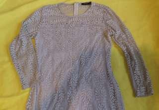 Lace long sleeved dress (grey)
