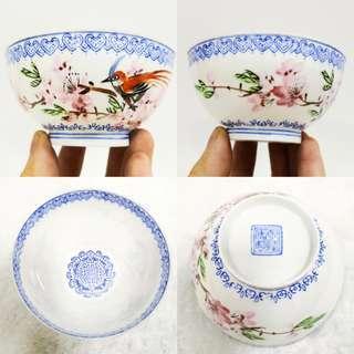早期手绘粉彩花鸟超级薄胎杯