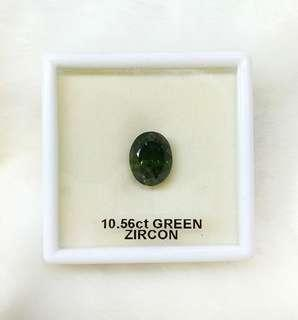 Natural Green Zircon Gemstone (10.56CT)