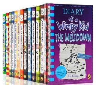 (Ready Stok) Diary Of A Wimpy Kid —14books