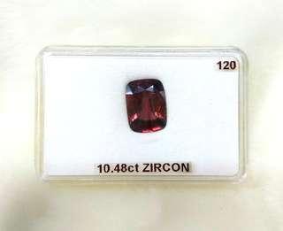 Natural Wine Red Zircon (10.48CT)