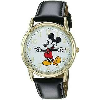 Men's Watch Disney Mickey Mouse Leather Black WDS000405
