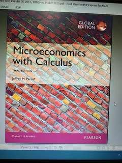 Microeconomics with Calculus third edition