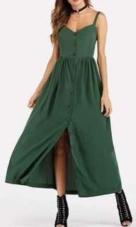 Green maxi dress size 8-10 (S)