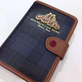 中古加菲猫蘇格蘭格仔皮手帳 90s Vintage Garfield Leather Scottish Tartan Schedule Planner