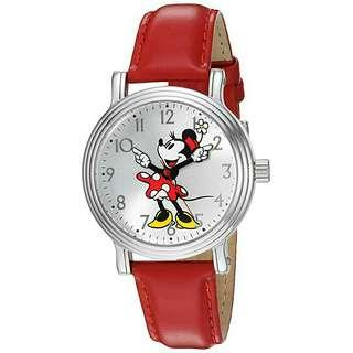 Women's Watch Disney Minnie Mouse Leather Red W002760