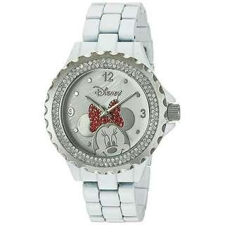 Women's Watch Disney Minnie Mouse White Metal W002895