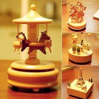 Wood Handmade wooden crafts Music Box Rotating birthday gifts Ferris wheel box ornaments Valentine's gift