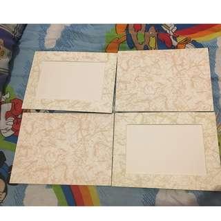 每個HK$1~ 花紋硬卡紙相架