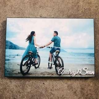 🚚 Wooden photo frame print with custom names