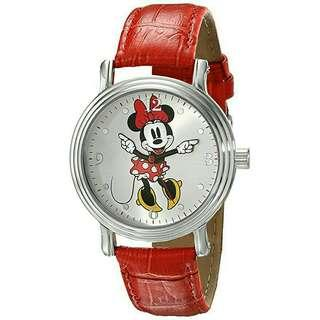 Women's Watch Disney Minnie Mouse Leather Red W001877