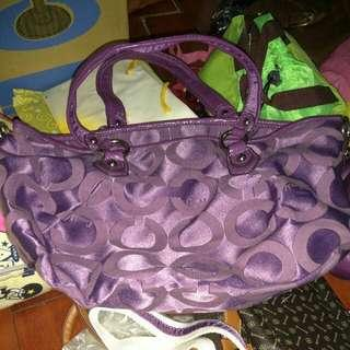 Coach 紫色包
