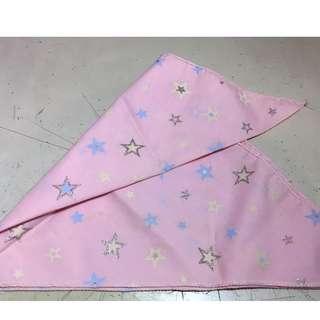 粉紅色 閃星星 三角布/頭巾