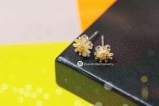 Sunflower Earrings Sterling Silver