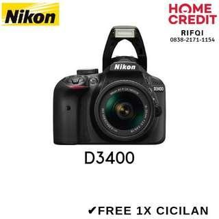 Kredit DSLR Nikon D3400 Proses Cair 3 Menit Bisa DP 750rb