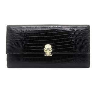 d16563e65e9 Alexander McQueen Continental Skull Wallet (Black)