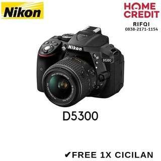 Kredit Nikon D5300 Proses Cair 3 Menit Bisa DP 880rb