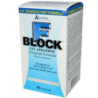 🌳旺角門市現貨🌳💥Absolute Nutrition Fat Block 強效甲殼素消脂丸 💥 FBlock 燒脂減肥不節食 防止脂肪積聚 GNC