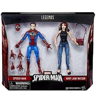 Marvel Legends Spider-Man & Mary Jane 2 Pack Toys r Us exclusive