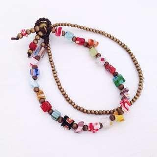 チチカカ Titicaca (Japan) Rainbow Gemstone Handmade Bracelet 日本民族彩虹石手繩