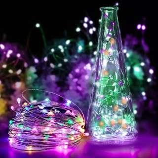 COLORFUL SILVER WIRE LED FAIRY LIGHT 10 M