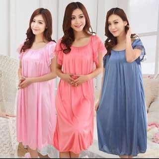 Lingerie sleepwear Long silk dress