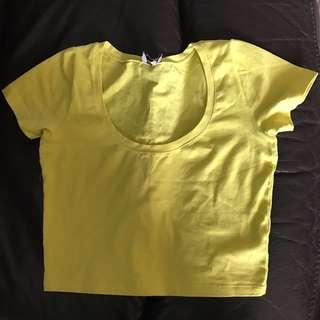 ASOS Chartreuse Cropped top
