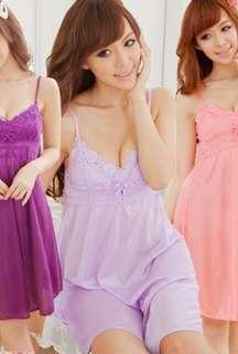 Sexy lingerie deep V cute sleep dress
