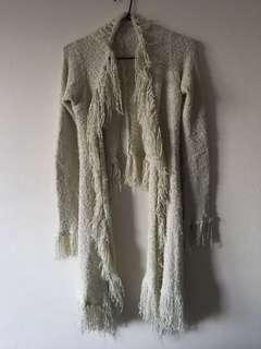 Tree of Life Shaggy Vintage Fringed Coat