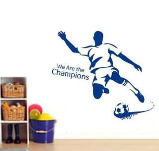 Soccer wall decal / wall stickers/ home deco