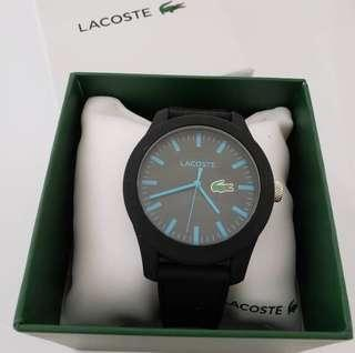 LACOSTE Black Silicone Watch