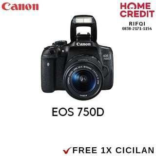 Kredit DSLR Canon 750D Proses Cair 3 Menit
