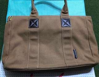 🚚 二手正品 日系paul smith 手提包 可放A4 購於日本 低調彩條